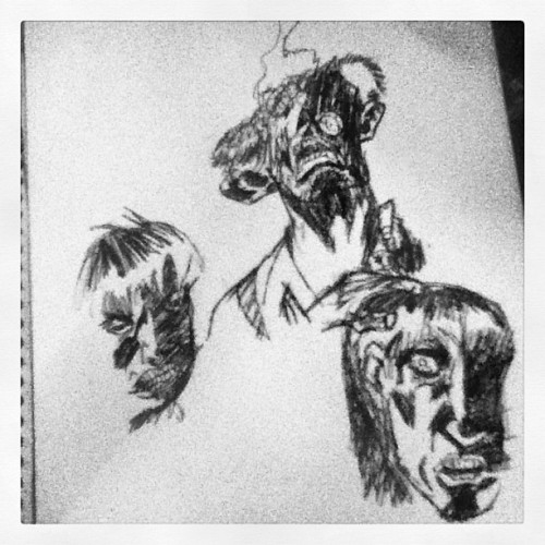 Doodles I did in class. #zombie #zombiesimongarth #comic #comics #comicbook #garth #simon #graphic #novel #graphicnovel #drawing #pen #drawing #pendrawing #doodle #zombies #art #artwork #sketch #sketchbook #thezombie #picture #photo #school #comics #book #tumblr