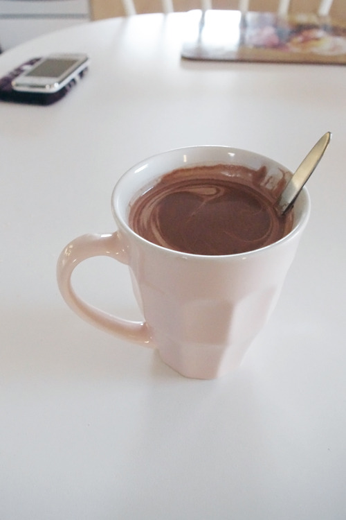 Drinking cocoa every time and with any meals these days. Tis the season.