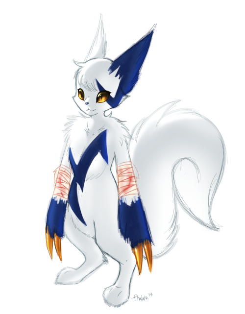 I want a Zangoose character now, but, like… I don't know. I need a nameeee.  also I hate the leg that is closest. @__@