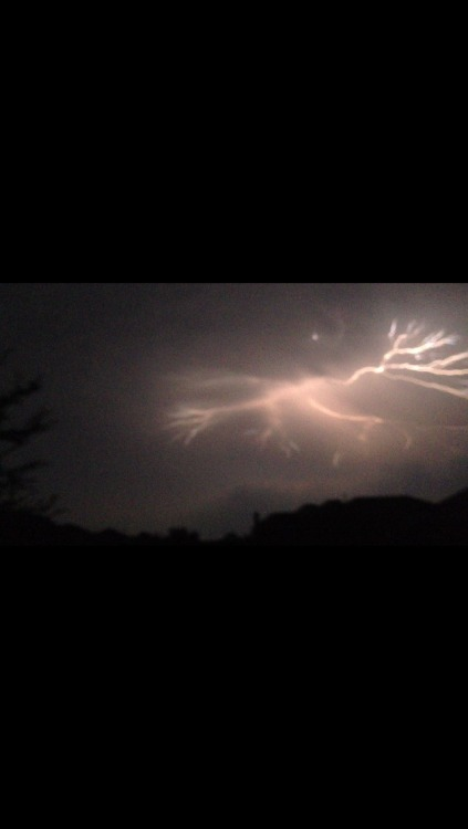 Watchin the lightning outside last night
