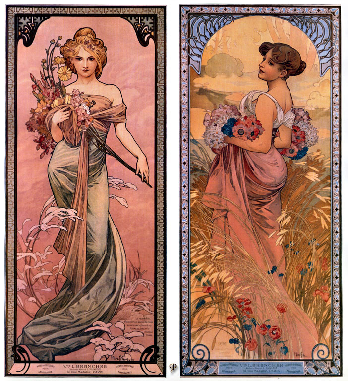 Spring and Summer (1898) by Mucha