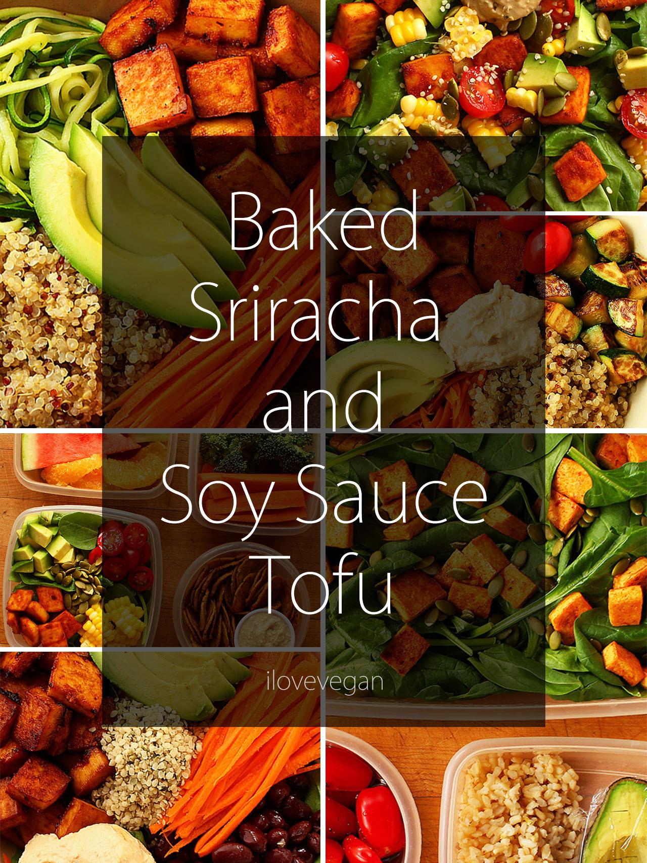 Baked Sriracha and Soy Sauce Tofu + 2 Quick & Easy...   Garden of Vegan