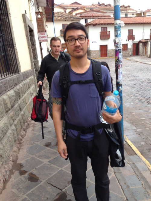 Heading out to start our 4-day trek to Machu Picchu