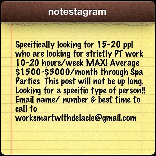 This post will not be up long. Looking for a specific type of person!! Email name/ number & best time to call!