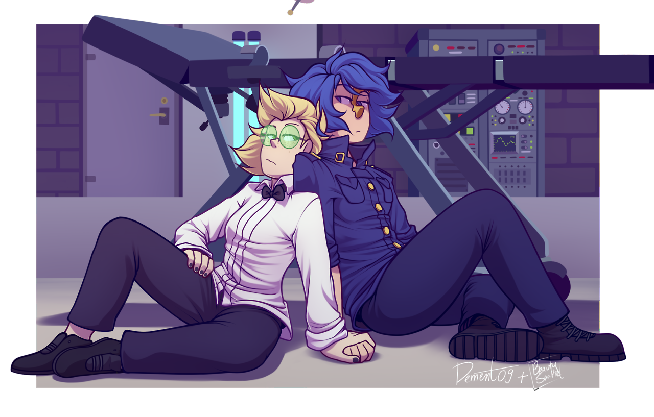 heres the other half of the collab i did with @dement09 where they sketched and i lined and colored
