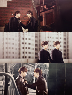 ❝ I've been friends with Jongsuk for a long time, so as Jongsuk became more like Namsoon, I also felt like that I was really Heungsoo. I would like for us (Woobin and Jongsuk) to keep being good friends forever.❞ —Woobin (for bing & diana)