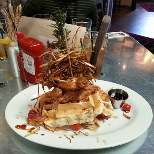Chicken & Waffles (at Hash House A Go Go)