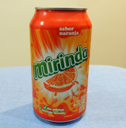 "Review: Mirinda OrangeThis is an orange soda originally from Spain, but very common in Mexico. It's actually been owned by Pepsi since 1970. The word ""Mirinda"" means ""wonderful"" in Esperanto. I guess there used to be way more flavors in the past- grapefruit, apple, strawberry, raspberry, pineapple, pomegranate, banana, passionfruit, lemon, hibiscus, Guarana, tangerine, tamarind, and grape. They now mainly focus on orange though, which is too bad. There's not enough weirder fruit sodas. Like banana is the most popular fruit in the world…why is it not a popular soda?? Anways, moving past Wikipedia information, this tastes a little different than your typical Fanta/Sunkist/Slice type orange soda. It tastes a bit more like mandarin orange, but more like if Tang had a soda. I've actually mixed Tang with Sprite before. It's not too far off from this. Which is actually pretty good. Grade: B (Matt)"