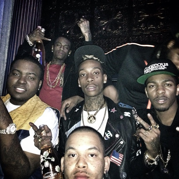 Los Celebrating Ravens Win With Sean Kingston, Soulja Boy, Wiz & Polo the Don - Los