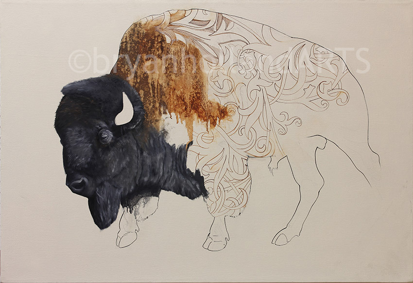 bison - untitled work in progressoil on canvas25.5 x 37.5 inches