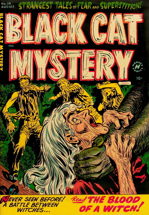 Black Cat Mystery (No.38, 1952)Cover Art by Lee Elias