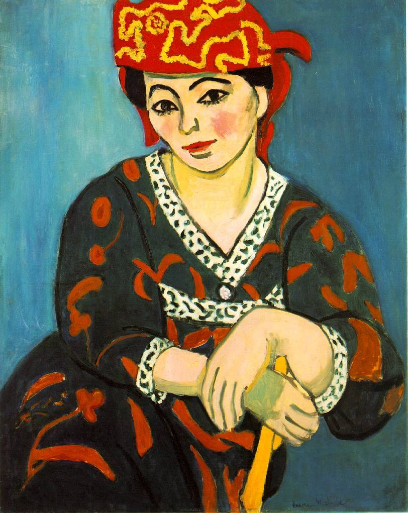 pubertad:  Henri Matisse, The Red Madras Headdress, 1907