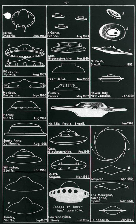 staticeverywhere:  Via godwasanastronaut:  lightyeeeears:  1969 – UFO Sightings Chart