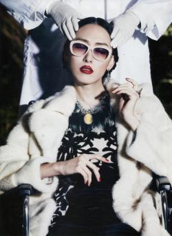 Our Tom Binns Design Cameo Jobim necklace in Harper's Bazaar Korea
