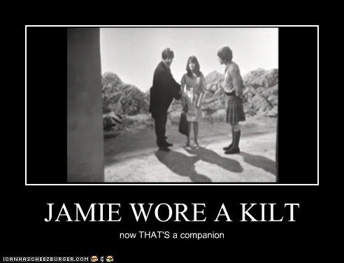 jsynth:  Seriously, how many companions have worn a kilt?  Let's see…