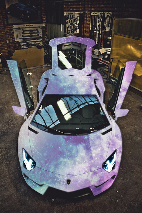 rralker:  auerr:  Matte Galaxy AventadorYou know you want it.  ALL ABOARD THE NOTE TRAIN!