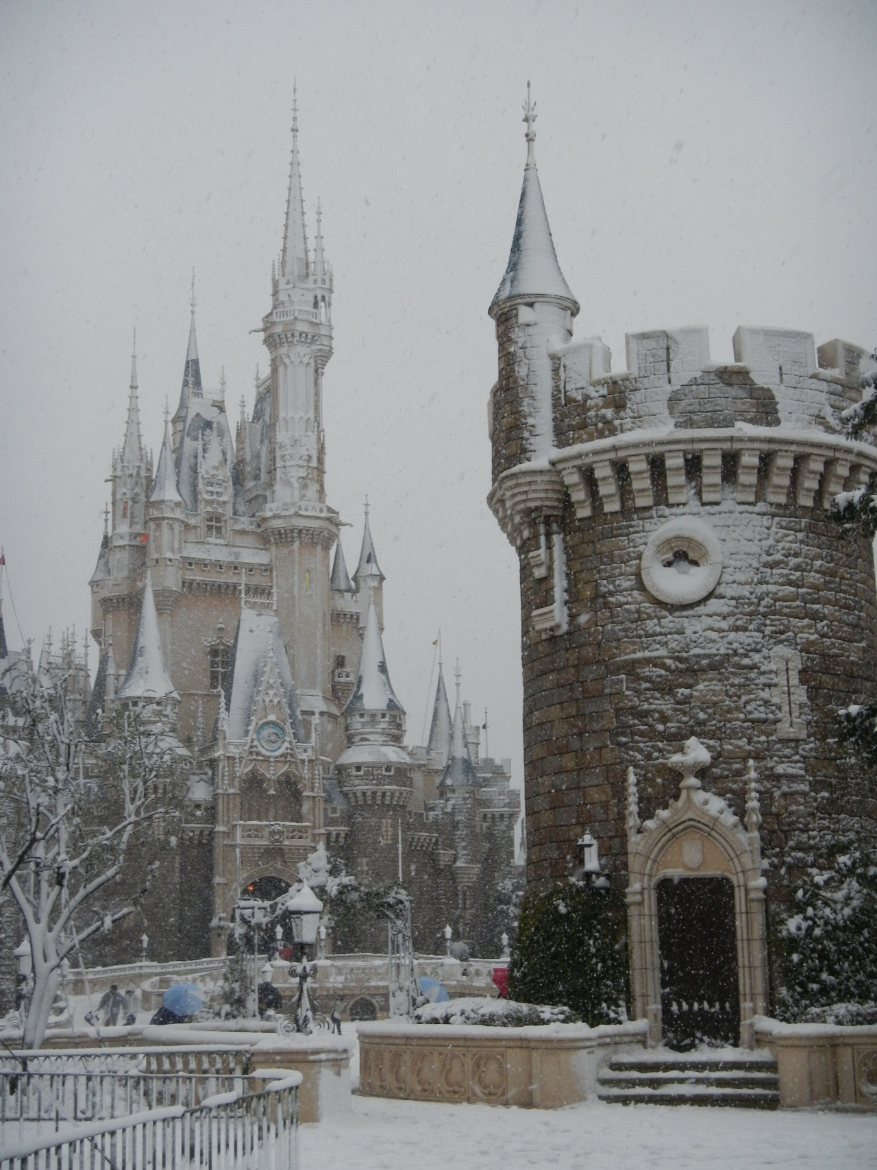 disney:  There's no day like a snow day! Photo: Snow at Tokyo Disneyland, 1/13/2013