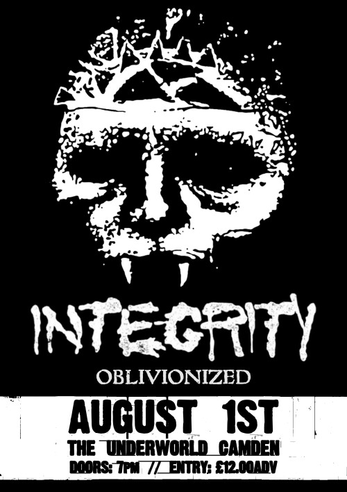 We are supporting INTEGRITY on August 1st, I'm chuffed!Tickets: http://www.mmp.bigcartel.com/Event Page: https://www.facebook.com/events/165248296976770/