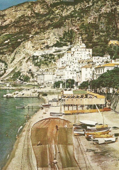 vintagenatgeographic:  Amalfi, Italy on the Mediterranean National Geographic | March 1940