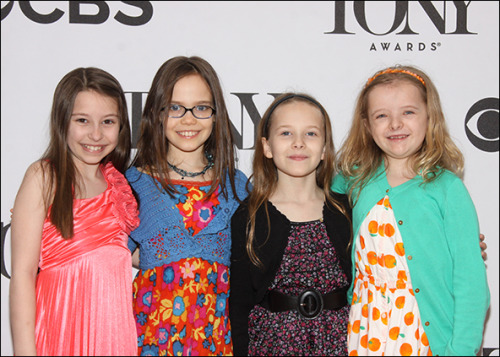 littlebroadwaybabies:  The Matilda's at the Meet the Nominees Press Reception for the Tony Awards Bailey Ryon, Oona Laurence, Sophia Gennusa and Milly Shapiro