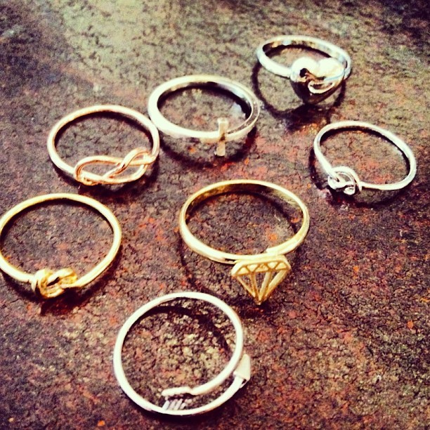 New nativela birdy rings just in!! come into MILK BOUTIQUE!