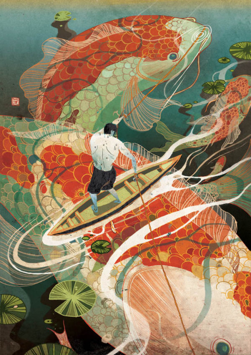 Asian Style Editorial Illustrations A collection of editorial illustrations for Business and Trade created by Victo Ngai, a New York-based illustrator from Hong Kong. Victo Ngai is well known for this beautiful asian illustration style. More of the illustrations Victo Ngai on WE AND THE COLORWATC//Facebook//Twitter//Google+//Pinterest