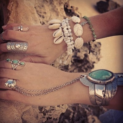spellandthegypsycollective:  Makes me want to deck myself in jewels and live in a sandcastle! @gypsylovinlight in our thunderstruck cuff and three sisters ring + @pfyt_jewellery + @soulmakesjewelry x