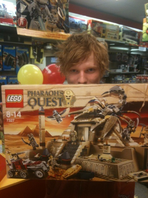 Ed with Legos? That's such a weird thing…