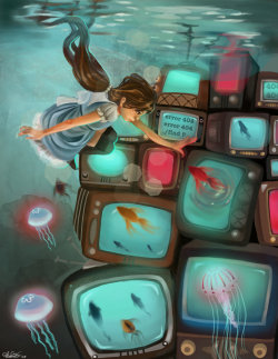 sandpaperdaisy:  Screen Syndrome by ~Melokie