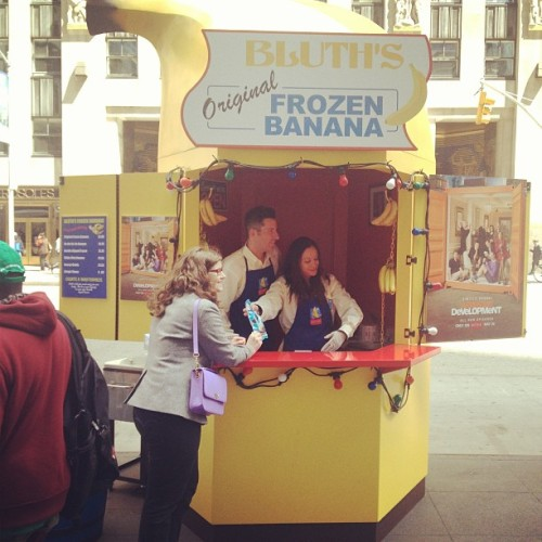 I'll meet you down at the big yellow joint (at Bluth's Frozen Banana Stand)