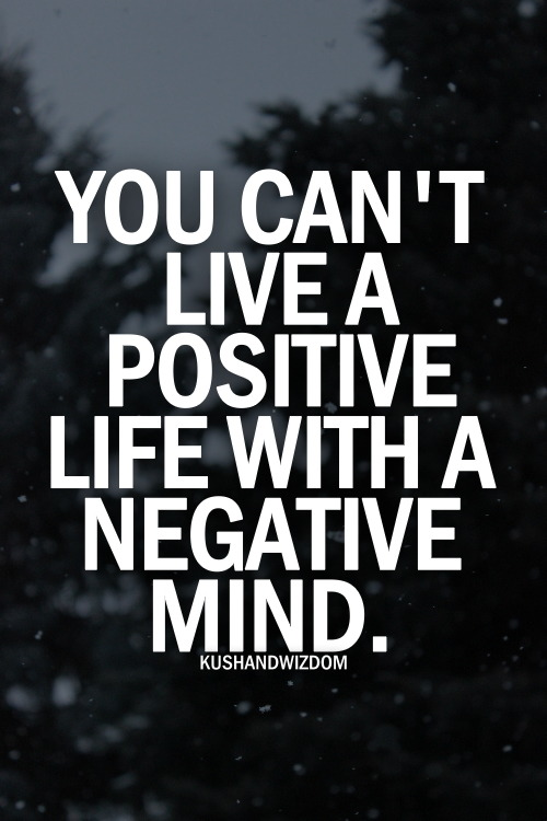 Let the negative go to be positive