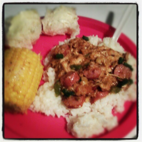 #rolls #corn #jambalaya #SierraMist #food #love #momies #cooking
