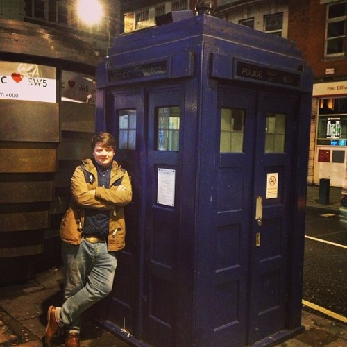 """Are we sure this time? Earls court was an embarrassment!"" #doctorwho #tardis"