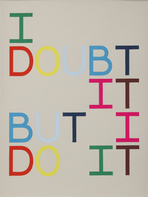Tauba Auerbach—I Doubt It But I Do It (II)