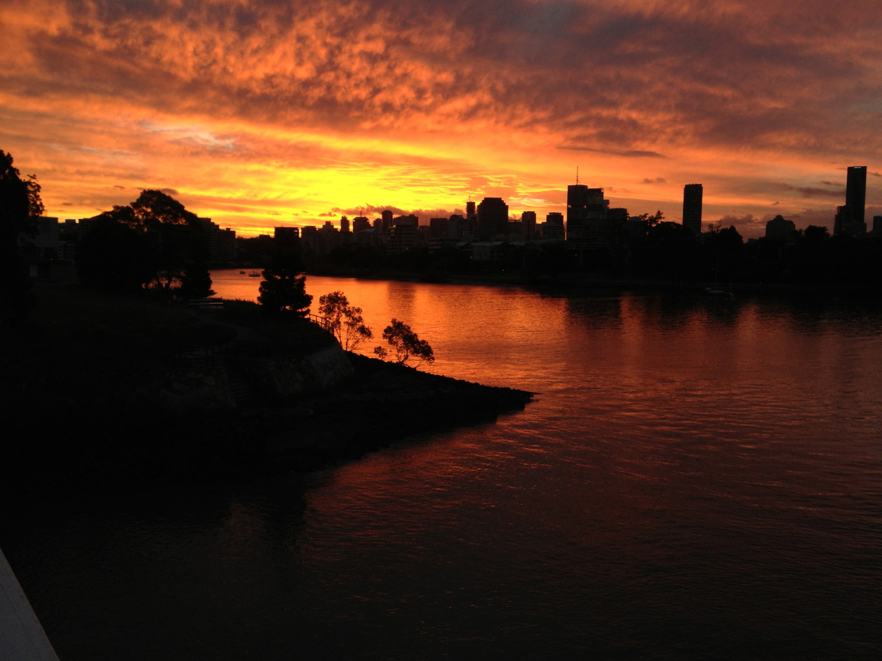 brisbane sunset.