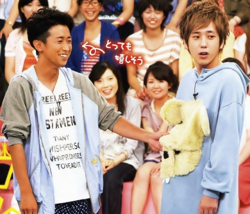 kamben87:  What? Ohno does like cute things (and people), okay? So does Nino. I say.