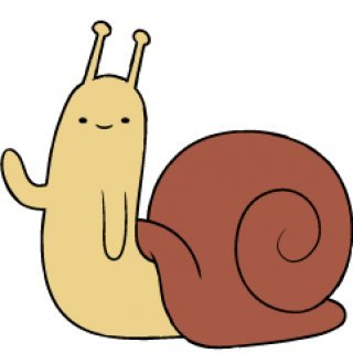 merlin:  Snail - The Adventure Time Wiki. Mathematical!     The Snail is a character that has hidden in every episode of Adventure Time to date (excluding the Animated Short), usually seen waving at the screen. His cameos are a running gag.   He's also hiding in all the comics. One of my favorite little easter eggs out there.  Definitely our household's contemporary Goldbug.  Rewatch all the episodes!!!
