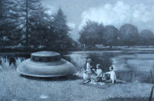 2headedsnake:  Peter Martensen Picnic Oil on canvas