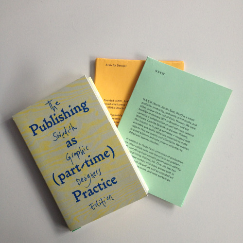 A nice feature on the Oslo edition of Publishing as Part Time Practice on Grafill's website (på norsk): Deltidsforlagene