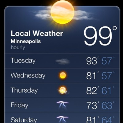 The high temp today. #win (at University of Minnesota - Twin Cities)