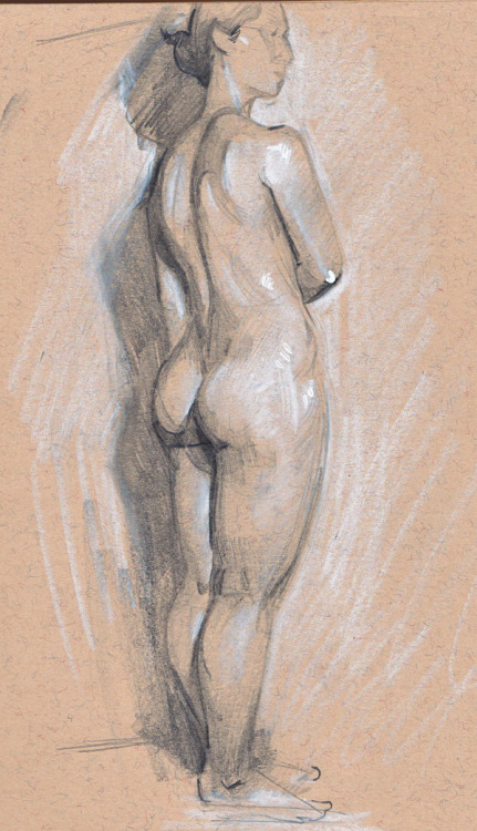 Life drawing from last Thursday. One hour pose!