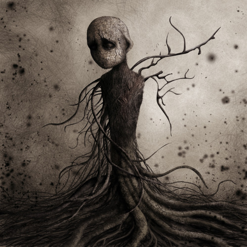 by http://monstror.deviantart.com/gallery/ And the lonely creature wailed it's agony then slumped in despair…