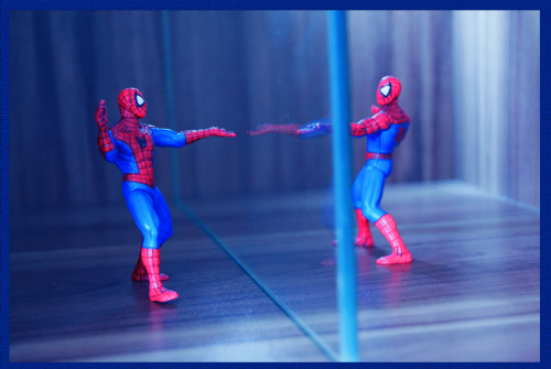Spidey reflection; made with Sony alpha 330 and PS5