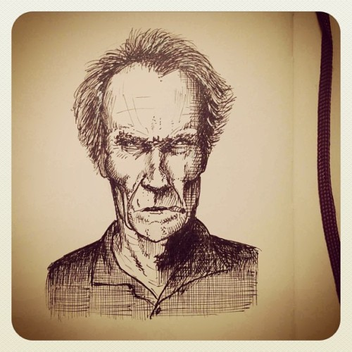 Clint Eastwood #dailysketch
