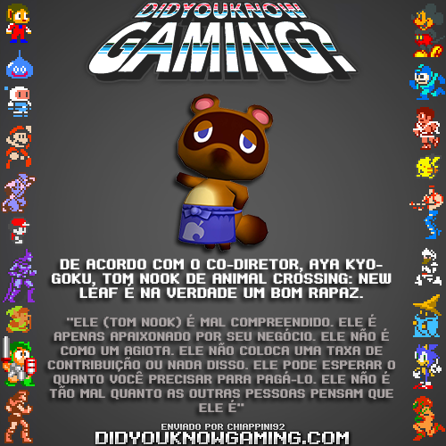 Animal Crossing. Anexo: http://www.vgfacts.com/trivia/2315/