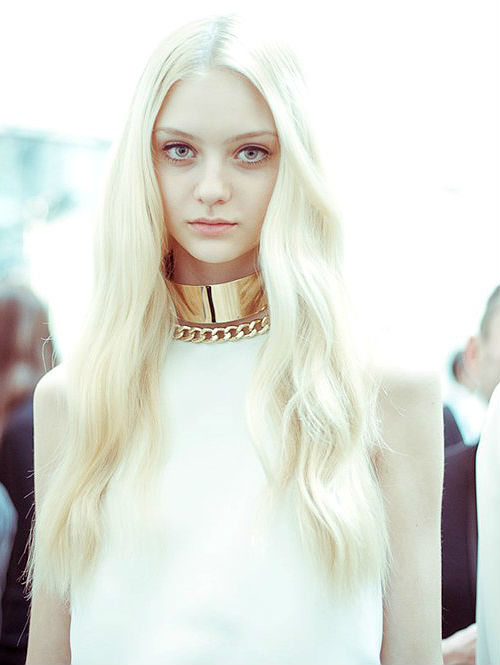 nastya kusakina at paco rabanne f/w 2012, photographed by morgan o'donovan