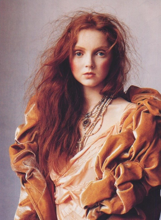 suicideblonde:  Lily Cole by Irving Penn