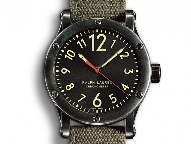 Ralph Lauren Burnished Gunmetal Chronometer