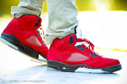 "sneakerphotogrvphy:  Air Jordan V Retro DMP ""Toro Bravo"" by KCbruins1919 on Flickr."