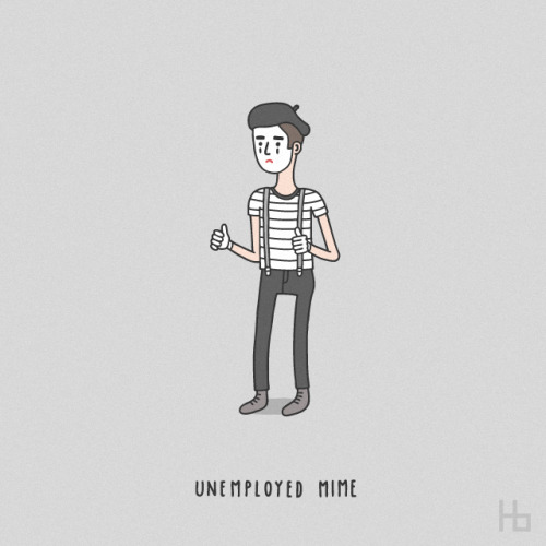 haasbroek:  Unemployed Mime (2013)  I love this.